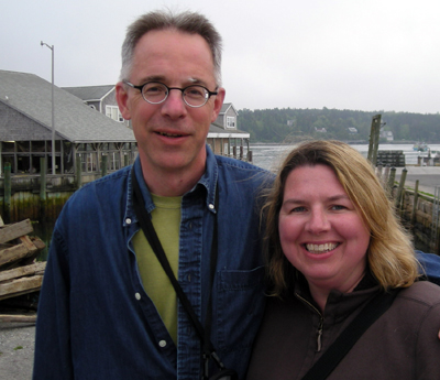sara harrington and dan kueper in maine