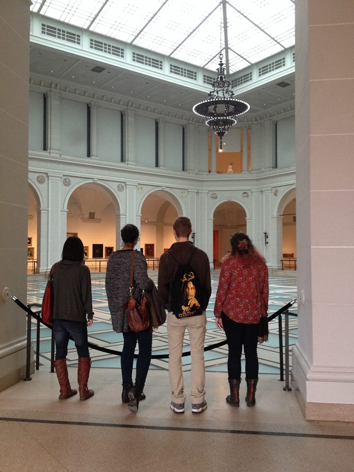 RAHSA Members looking out over the Beaux-Arts Court at the Brooklyn Museum 2014